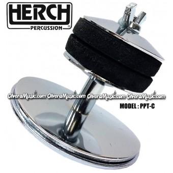 HERCH Bass Drum Cymbal Holder - Chrome