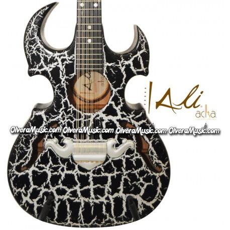 ALI ACHA 12-String Guitar Violin F-Hole Design - Black
