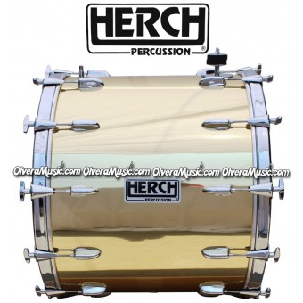 Herch 20x24 Bass Drum Gold Color Solid w/10-lugs
