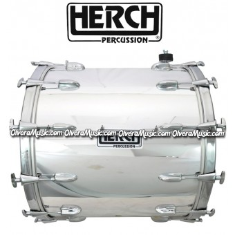 Herch 20x24 Bass Drum Solid Chrome Color 10-Lugs