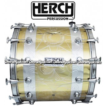 Herch 20x24 Tambora Diseño Sol y Luna Grabada/Combinada 12-Afinadores