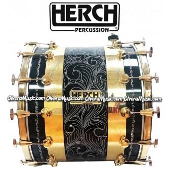 Herch 20x24 Tambora Dorada/Combinada 12-Afinadores