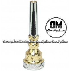 OM Trumpet Mouthpiece w/Engraving - Double Cup