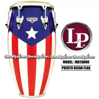 LP Matador Puerto Rican Flag Wood Congas
