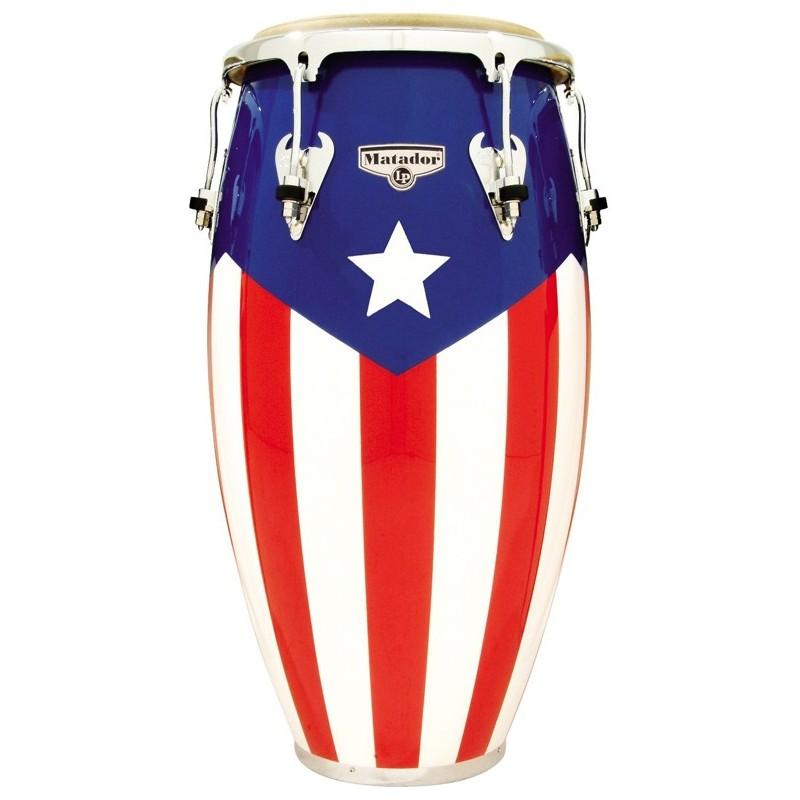 lp matador puerto rican flag wood congas olvera music