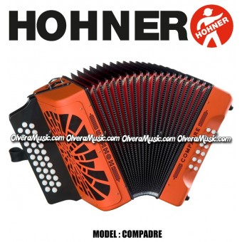 HOHNER Compadre Button Accordion - Orange