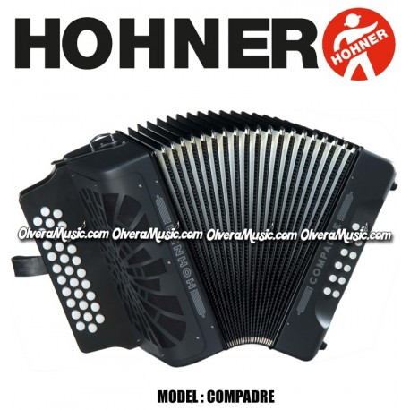 hohner compadre button accordion black olvera music. Black Bedroom Furniture Sets. Home Design Ideas