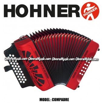 HOHNER Compadre Button Accordion - Red