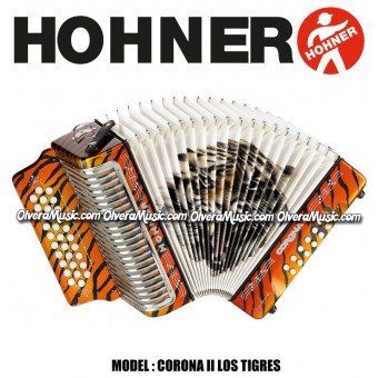HOHNER Corona II Los Tigres Series Button Accordion - Orange
