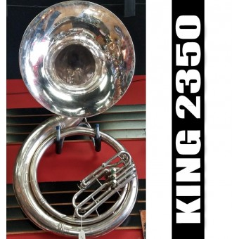 KING 2350 Metal Sousaphone Silver Plate Finish - (USED)