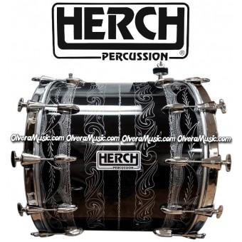HERCH Bass Drum 20x24 Black w/Engraving 12-Lug