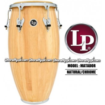 LP Matador Wood Congas - Natural/Chrome