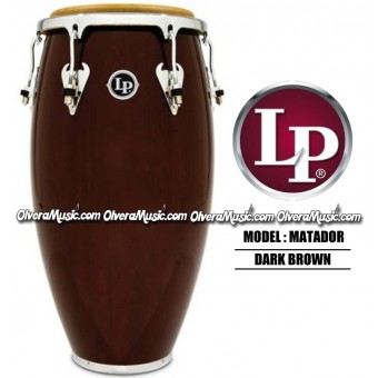 LP Matador Wood Congas - Dark Brown