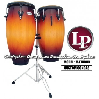 "LP Matador Custom Wood Congas 11"" & 11 3/4"" - Vintage Sunburst"