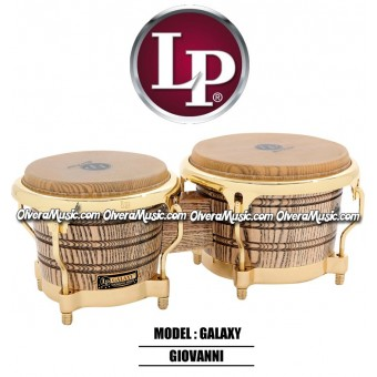 LP Galaxy Giovanni Wood Bongos- Natural/Gold Tone