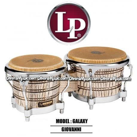 LP Galaxy Giovanni Wood Bongos - Natural/Chrome