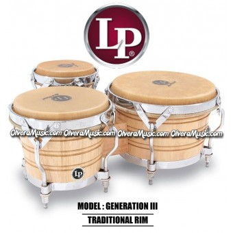 LP Generation III Triple Wood Bongos