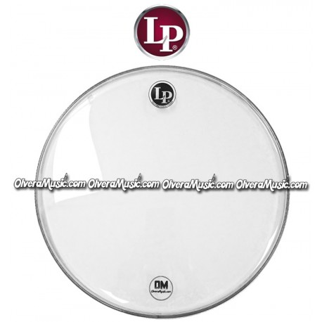 "LP Double-Ply Clear 14"" Drum Head - LP Banda"