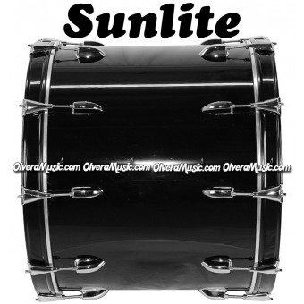 SUNLITE 18x24 Bass Drum - Black