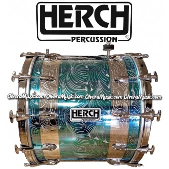 HERCH Bass Drum 20x24 Blue Metallic 12-Lug