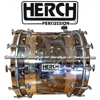 HERCH Bass Drum 20x24 Chrome/Chameleon Color 12-Lugs