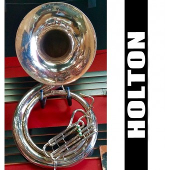 -SOLD- Holton Metal Sousaphone Silver Plate Finish - (USED)