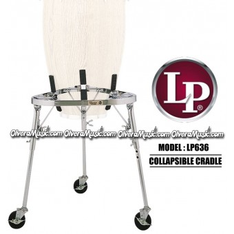 LP Collapsible Cradle Conga Stand w/Legs & Wheels