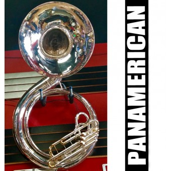 PANAMERICAN Metal Sousaphone Silver Plate Finish - (REFURBISHED)
