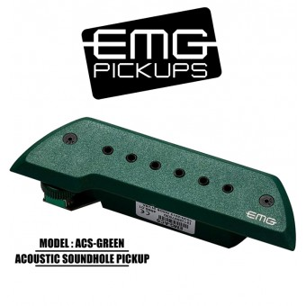EMG Acoustic Active Soundhole Pick-Up System - Green
