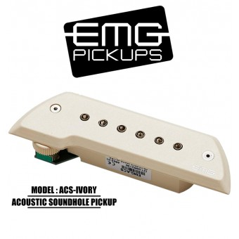 EMG Acoustic Active Soundhole Pick-Up System - Ivory