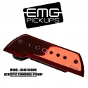 EMG Acoustic Active Soundhole Pick-Up System - Rojo Cromo