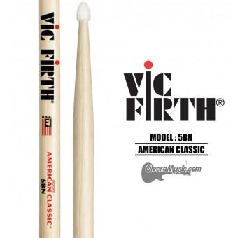 Vic Firth (5BN) American Classic Nylon Tip Drumsticks