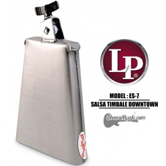 "LP Salsa ""Downtown"" Timbale Cowbell - 7.75"" Brush Steel Finish"