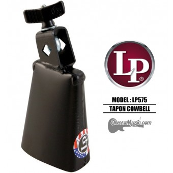 "LP Tapon Cowbell - 4"", Mountable, Black Finish"
