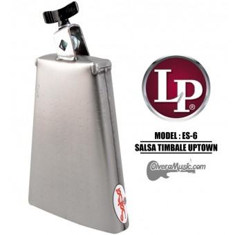 "LP Salsa ""Uptown"" Timbale Cowbell - 7.75"" Brush Steel Finish"