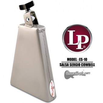 "LP Salsa Sergio Timbale Cowbell - 8"" Brush Steel Finish"