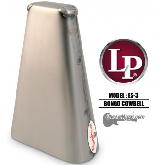"LP Salsa Hand Held Bongo Cowbell - 8"" Brushed Steel Finish"