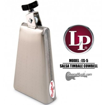 "LP Salsa Timbale Cowbell - 7.5"" Mountable, Brushed Steel Finish"