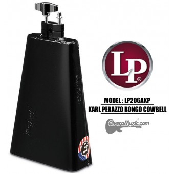 "LP Karl Perazzo Signature Bongo Cowbell - 8"" Black Finish"