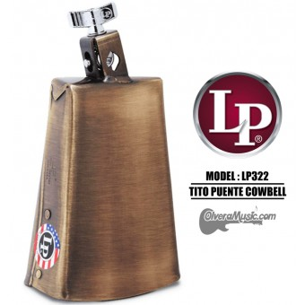 "LP Tito Puente Signature Prestige Cowbell - 7.5"" Antique Brass Finish"