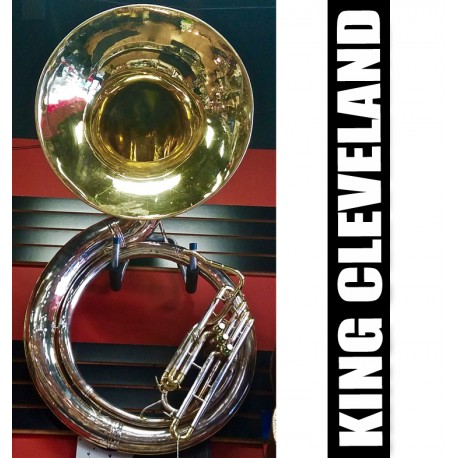 KING Cleveland Metal Silver-Plate Sousaphone w/Front Lacquer Bell - (USED)