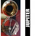JUPITER Metal Nickel Sousaphone w/Engraved Front Lacquer Bell - (REFURBISHED)