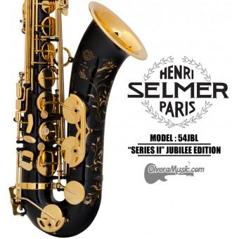 """SELMER PARIS """"Serie II"""" Edición Jubilee Saxofón Tenor Profesional - Lacquer Negro"""