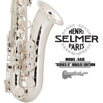 """SELMER PARIS """"Serie II"""" Edición Jubilee Saxofón Tenor Profesional - Plateado"""