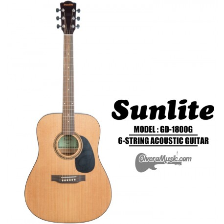 SUNLITE Full Sized Acoustic Guitar 6 String - Natural