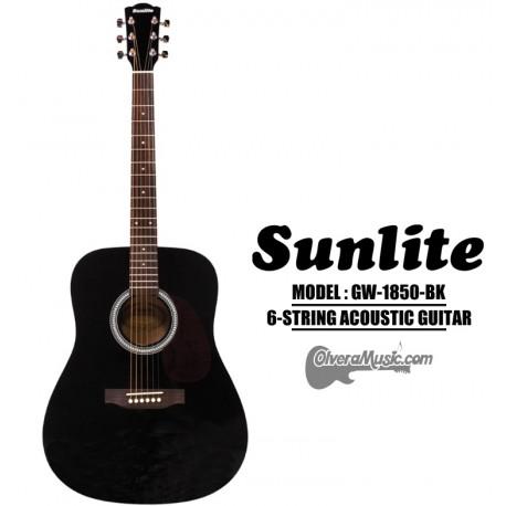 SUNLITE Full Sized Acoustic Guitar 6 String - Black