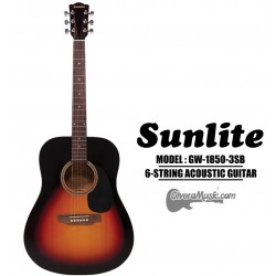 SUNLITE Full Sized Acoustic Guitar 6 String - Tobacco Sunburst