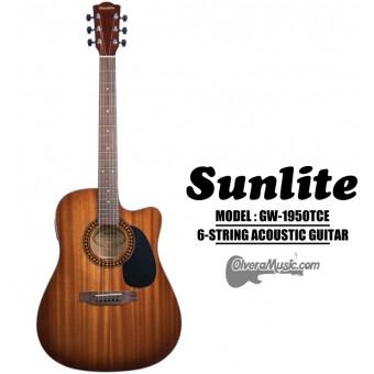 SUNLITE Full Sized Acoustic Guitar 6 String Cutaway w/EQ Slim Body