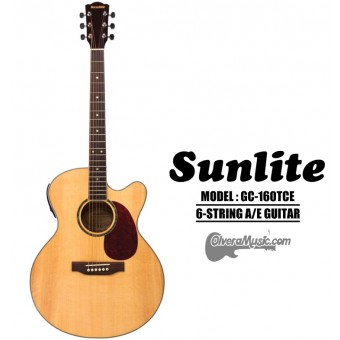 SUNLITE Ful Sized A/E Guitar Cutaway w/EQ Slim Body
