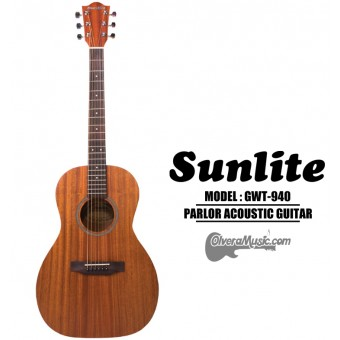 SUNLITE Full Sized Parlor Acoustic 6-String Guitar